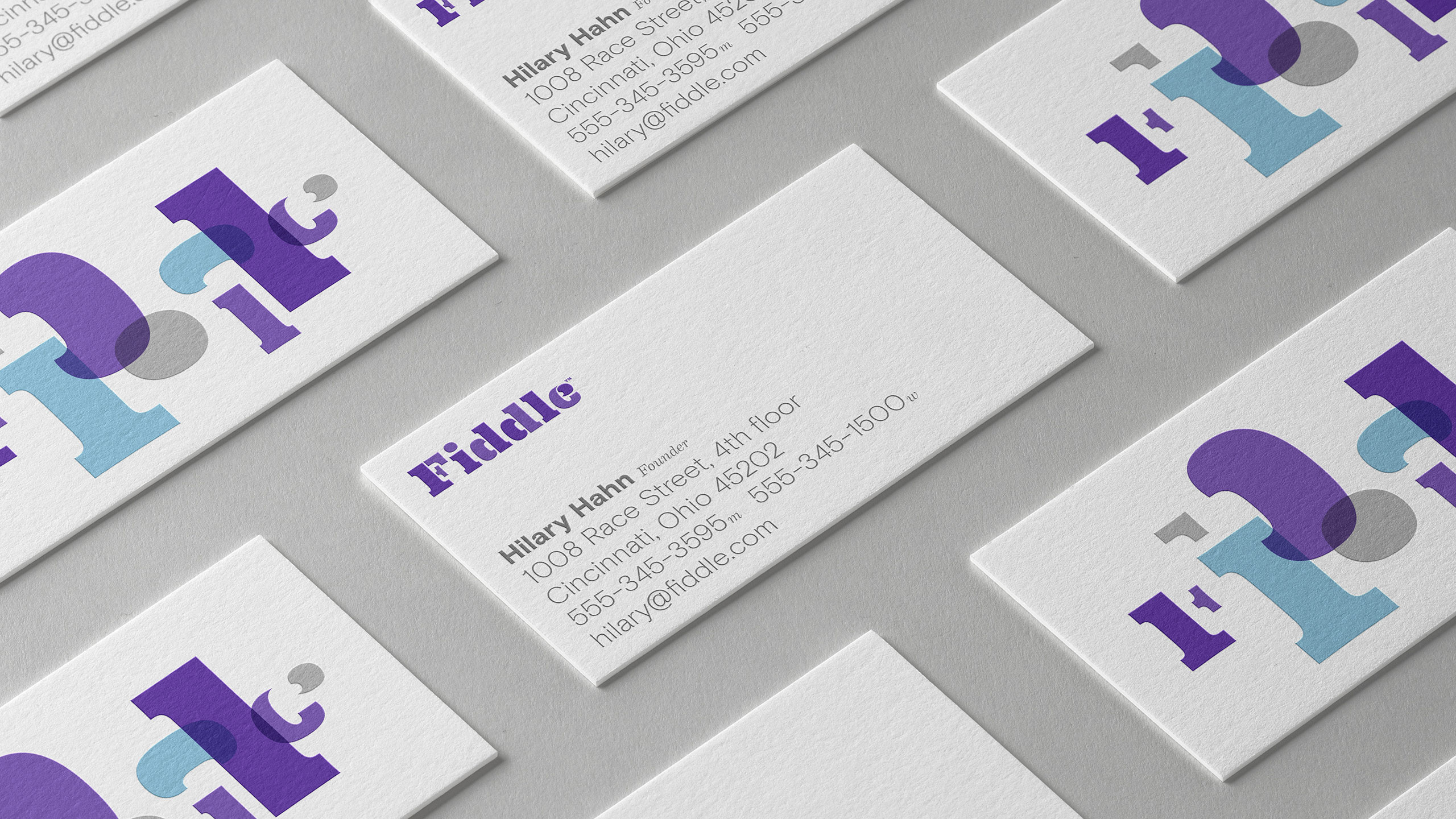 Fiddle business cards