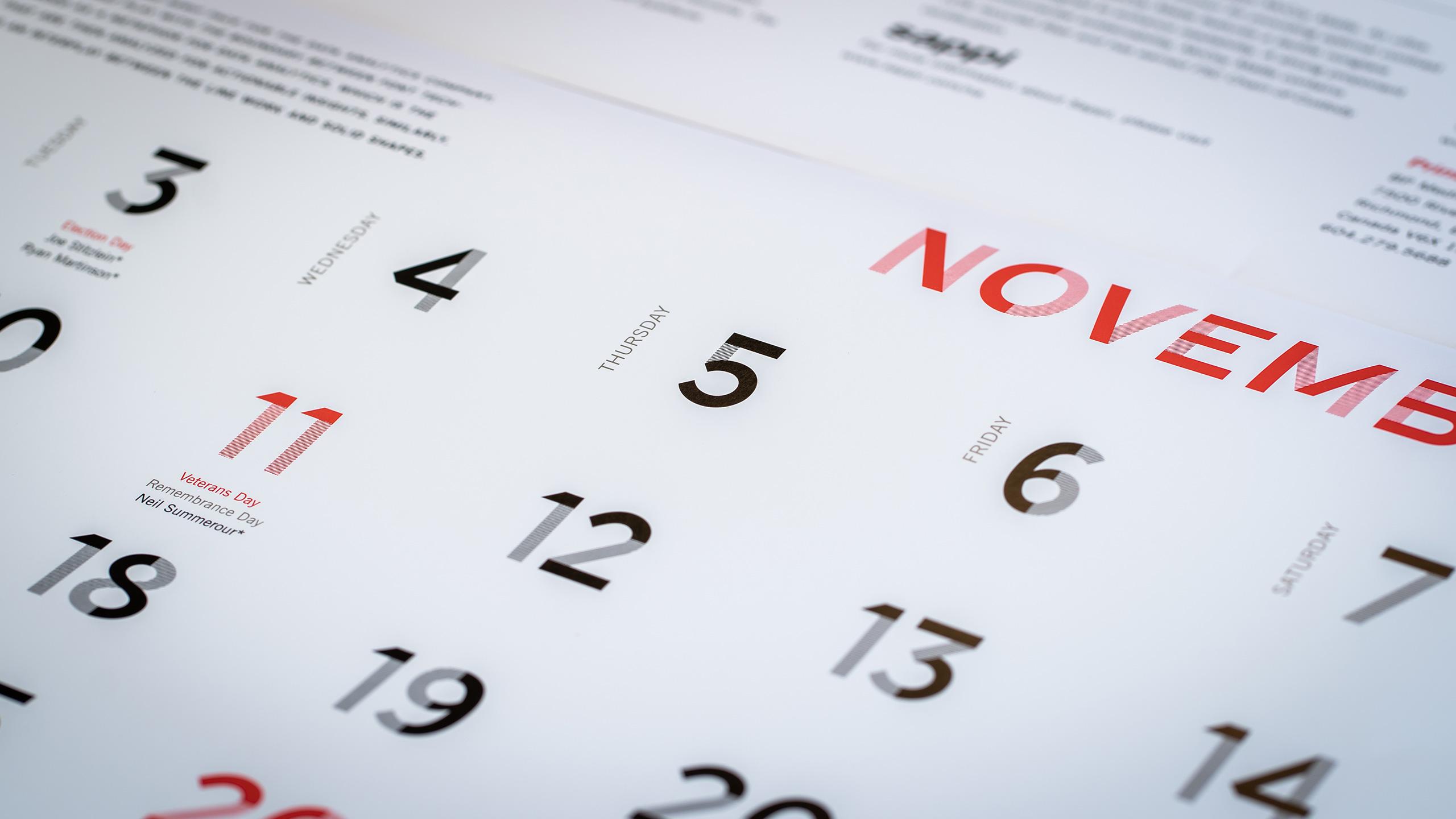 365 typography calendar
