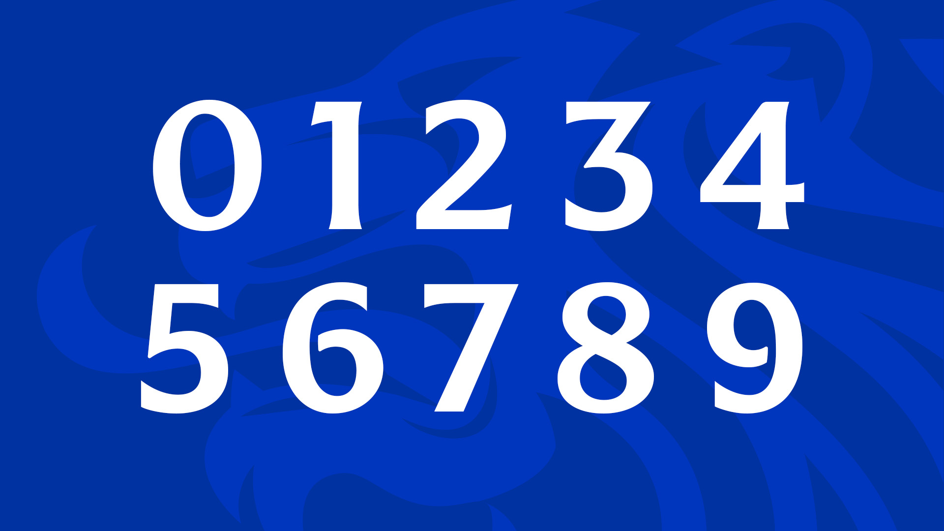 Rangers FC numerals