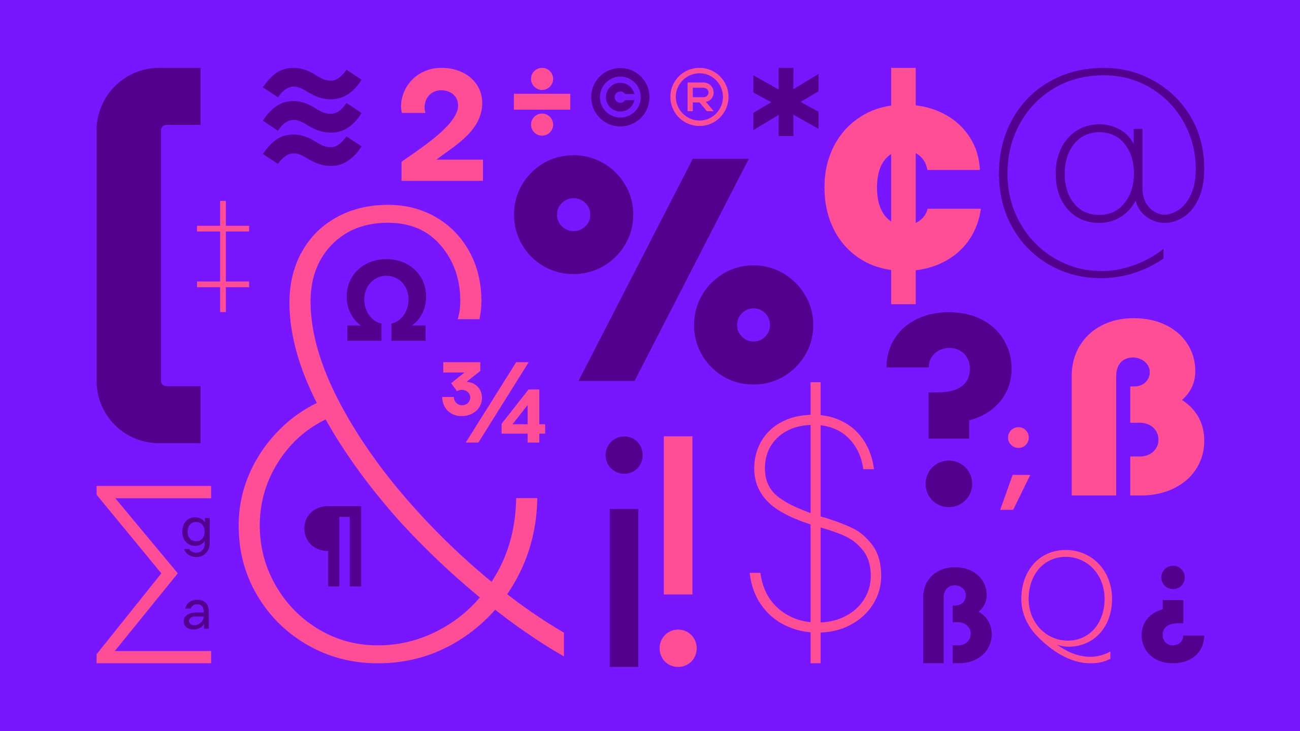 Letterforms from custom font