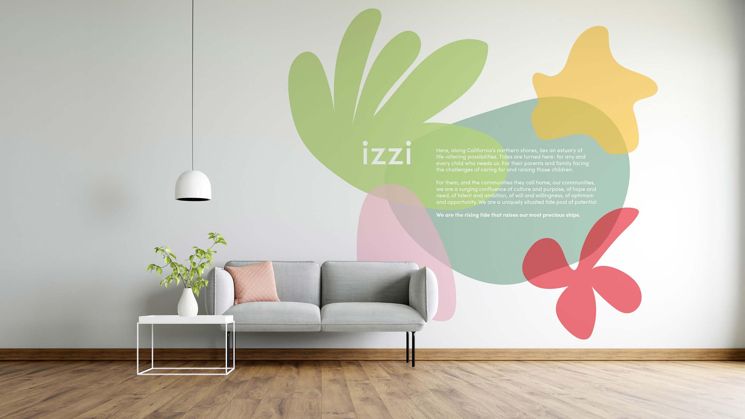 Izzi wall graphic
