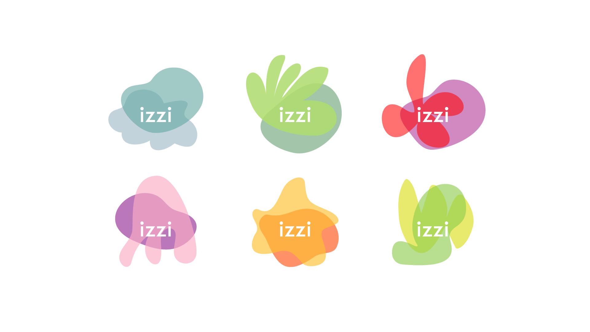 Izzi logo variations